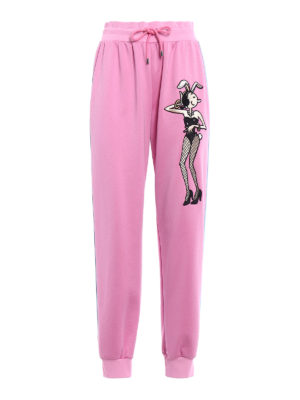 Moschino: tracksuit bottoms - Playboy© Olive jogger pants