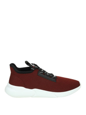 MOSCHINO: sneakers - Slip-on signature in mesh bordeaux
