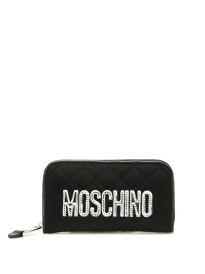 Moschino: wallets & purses - Nylon quilted wallet with logo