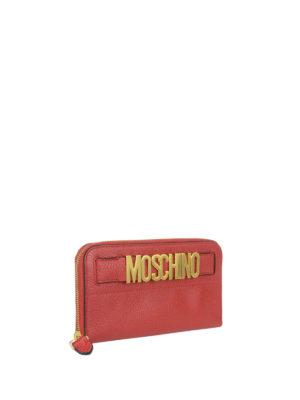 Moschino: wallets & purses online - Logo deerskin continental wallet