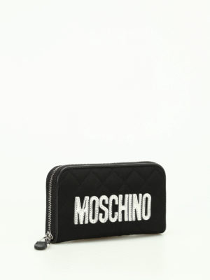Moschino: wallets & purses online - Nylon quilted wallet with logo