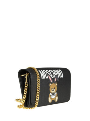 Moschino: wallets & purses online - Playboy bear faux leather wallet