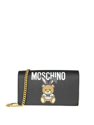 Moschino: wallets & purses - Playboy bear faux leather wallet