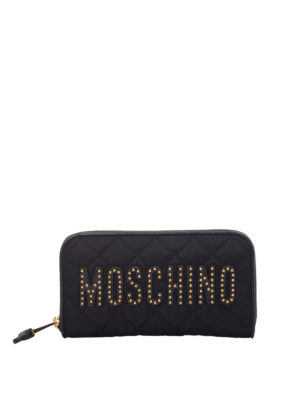 5f855562b8f Moschino  wallets   purses - Studded logo quilted wallet