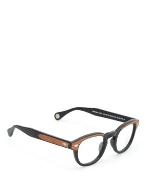 Moscot: glasses - Lemtosh wood optical glasses