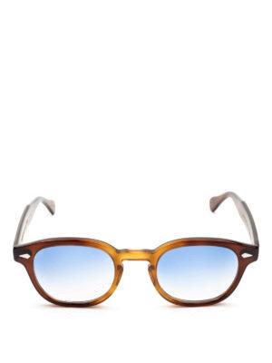 MOSCOT: occhiali da sole online - Occhiali Lemtosh tabacco con lenti blu