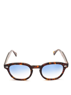 MOSCOT: occhiali da sole online - Occhiali Lemtosh tartaruga con lenti blu