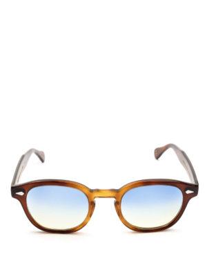 MOSCOT: occhiali da sole online - Occhiali Lemtosh tabacco con lenti blu gialle