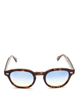 MOSCOT: occhiali da sole online - Occhiali Lemtosh tartaruga lenti blu gialle