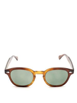 MOSCOT: occhiali da sole online - Occhiali Lemtosh tabacco con lenti verdi
