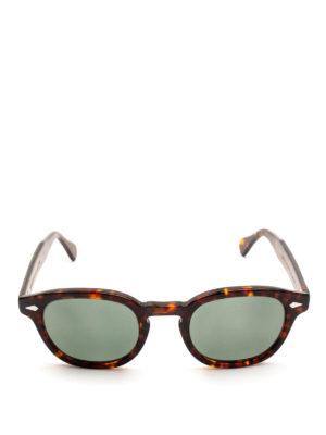 MOSCOT: occhiali da sole online - Occhiali Lemtosh tartaruga con lenti verdi