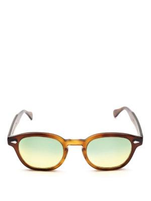 MOSCOT: occhiali da sole online - Occhiali Lemtosh tabacco lenti verdi gialle