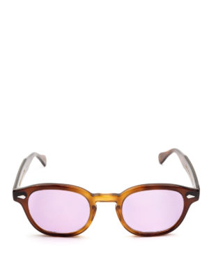 MOSCOT: occhiali da sole online - Occhiali Lemtosh tabacco con lenti lilla