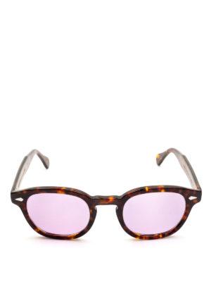 MOSCOT: occhiali da sole online - Occhiali Lemtosh tartaruga con lenti lilla