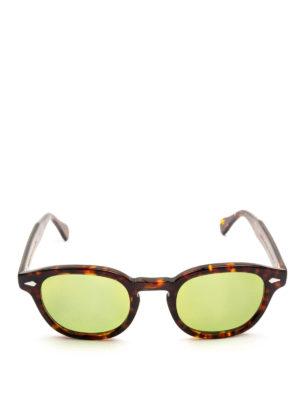 MOSCOT: occhiali da sole online - Occhiali Lemtosh tartaruga lenti verde acido