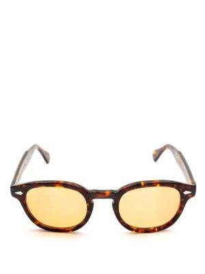 MOSCOT: occhiali da sole online - Occhiali Lemtosh tartaruga con lenti pesca