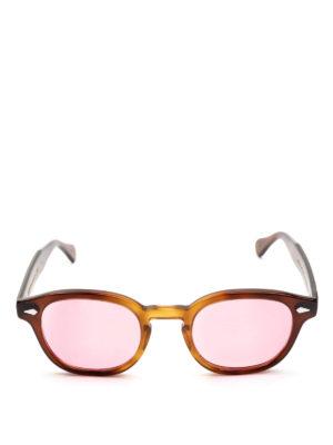 MOSCOT: occhiali da sole online - Occhiali Lemtosh tabacco con lenti rosa