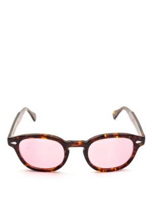 MOSCOT: occhiali da sole online - Occhiali Lemtosh tartaruga con lenti rosa
