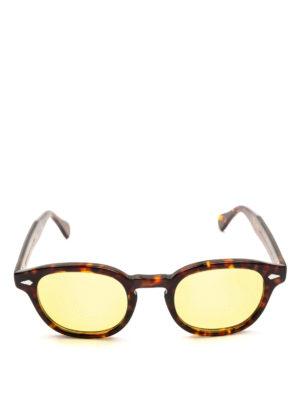 MOSCOT: occhiali da sole online - Occhiali Lemtosh tartaruga con lenti gialle