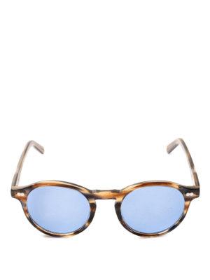 MOSCOT: occhiali da sole online - Occhiali Miltzen striati con lenti blu