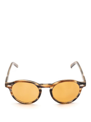MOSCOT: occhiali da sole online - Occhiali Miltzen striati con lenti arancio