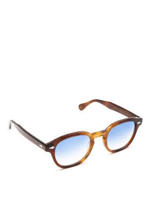 MOSCOT: occhiali da sole - Occhiali Lemtosh tabacco con lenti blu