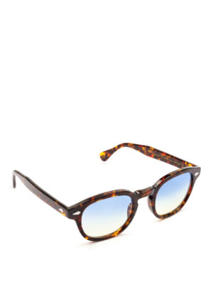MOSCOT: occhiali da sole - Occhiali Lemtosh tartaruga lenti blu gialle