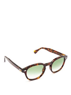 MOSCOT: occhiali da sole - Occhiali Lemtosh tartaruga lenti verdi chiare