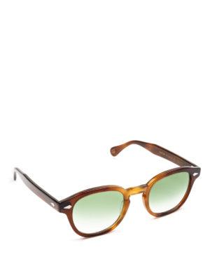 MOSCOT: occhiali da sole - Occhiali Lemtosh tabacco con lenti verdi