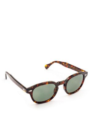 MOSCOT: occhiali da sole - Occhiali Lemtosh tartaruga con lenti verdi