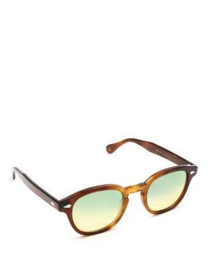 MOSCOT: occhiali da sole - Occhiali Lemtosh tabacco lenti verdi gialle