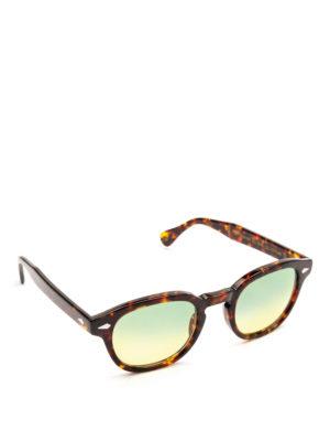 MOSCOT: occhiali da sole - Occhiali Lemtosh tartaruga lenti verdi gialle