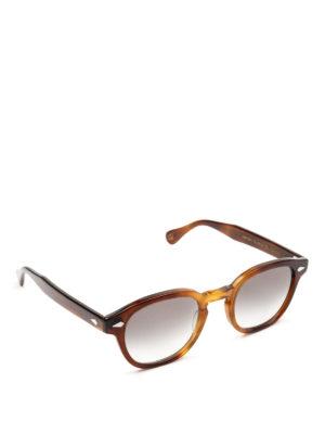 MOSCOT: occhiali da sole - Occhiali Lemtosh tabacco con lenti grigie