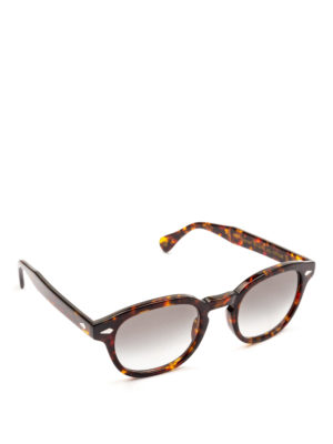 MOSCOT: occhiali da sole - Occhiali Lemtosh tartaruga con lenti grigie