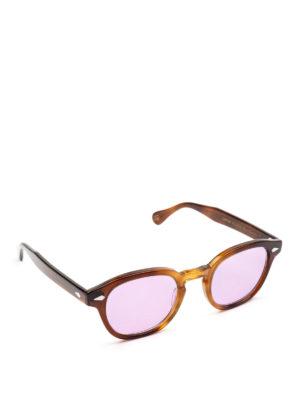MOSCOT: occhiali da sole - Occhiali Lemtosh tabacco con lenti lilla