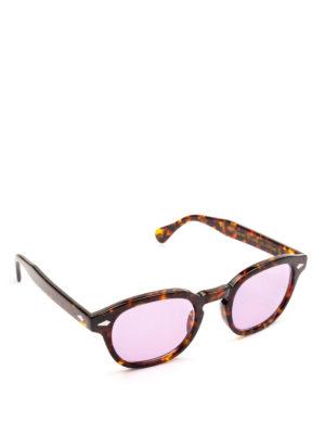 MOSCOT: occhiali da sole - Occhiali Lemtosh tartaruga con lenti lilla