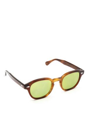 MOSCOT: occhiali da sole - Occhiali Lemtosh tabacco lenti verde acido