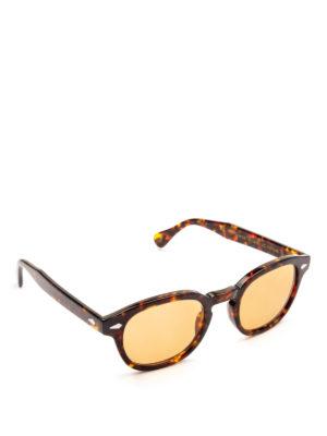 MOSCOT: occhiali da sole - Occhiali Lemtosh tartaruga con lenti arancio