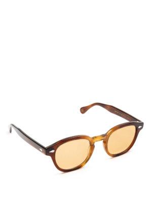 MOSCOT: occhiali da sole - Occhiali Lemtosh tabacco con lenti pesca