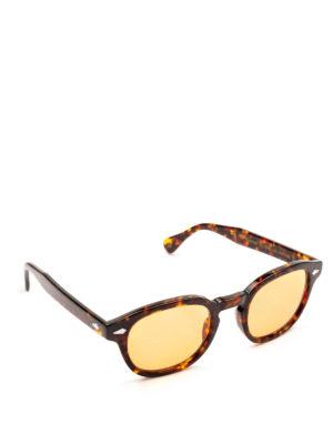 MOSCOT: occhiali da sole - Occhiali Lemtosh tartaruga con lenti pesca