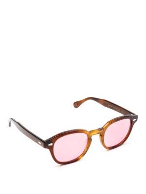 MOSCOT: occhiali da sole - Occhiali Lemtosh tabacco con lenti rosa
