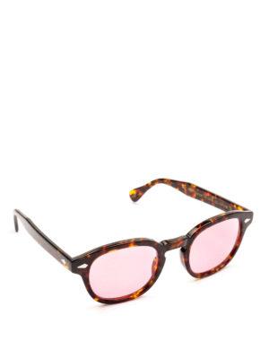 MOSCOT: occhiali da sole - Occhiali Lemtosh tartaruga con lenti rosa