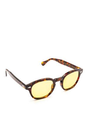 MOSCOT: occhiali da sole - Occhiali Lemtosh tartaruga con lenti gialle
