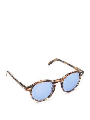 MOSCOT: occhiali da sole - Occhiali Miltzen striati con lenti blu