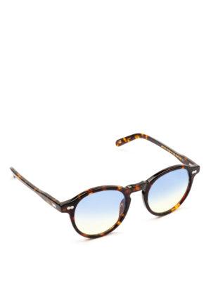 MOSCOT: occhiali da sole - Occhiali Miltzen tortoise lenti blu sfumate