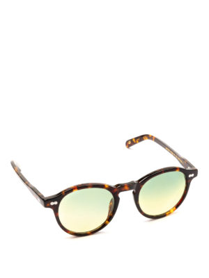 MOSCOT: occhiali da sole - Occhiali Miltzen tortoise lenti verdi sfumate