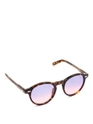 MOSCOT: occhiali da sole - Occhiali Miltzen tortoise lenti viola sfumate