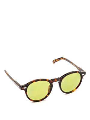 MOSCOT: occhiali da sole - Occhiali Miltzen tortoise con lenti verdi.