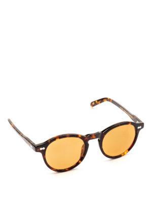 MOSCOT: occhiali da sole - Occhiali Miltzen tortoise con lenti arancioni