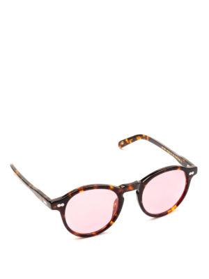 MOSCOT: occhiali da sole - Occhiali Miltzen tortoise con lenti rosa.